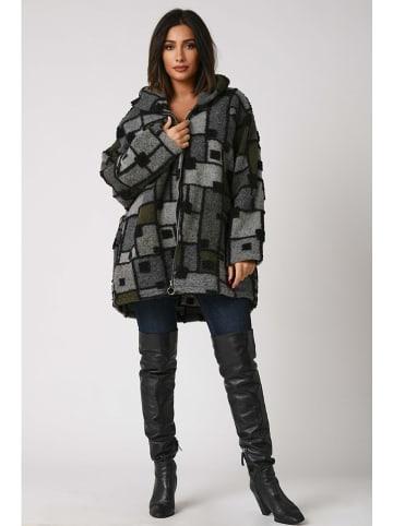 Plus Size Fashion Płaszcz przejściowy w kolorze antracytowo-oliwkowym