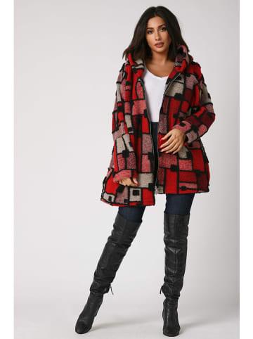Plus Size Fashion Płaszcz przejściowy w kolorze czerwono-szarym