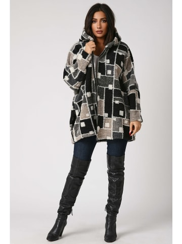Plus Size Fashion Płaszcz przejściowy w kolorze szarobrązowo-beżowym