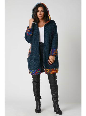 Plus Size Fashion Płaszcz przejściowy w kolorze morskim