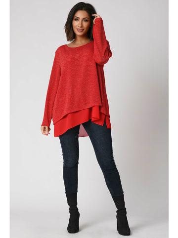 """Plus Size Company Sweter """"Naty"""" w kolorze czerwonym"""