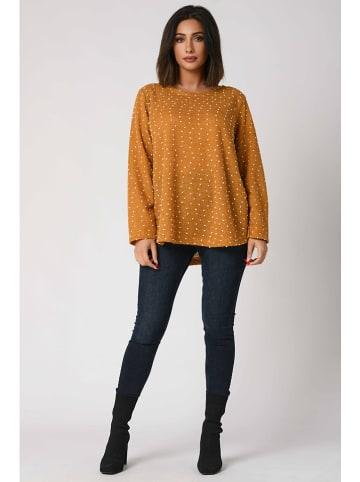 """Plus Size Fashion Pullover """"Tania"""" in Senf"""
