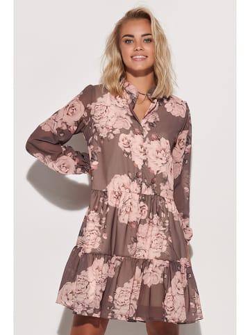 Makadamia Sukienka w kolorze brązowo-różowym