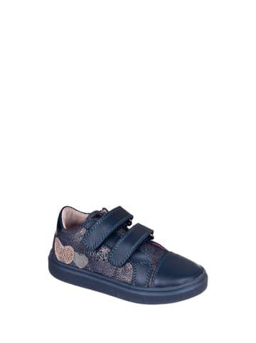 Chetto Skórzane sneakersy w kolorze granatowym