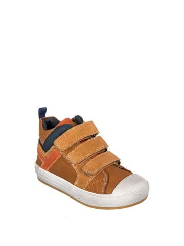 Chetto Skórzane sneakersy w kolorze brązowym