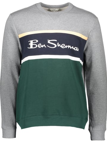 Ben Sherman Sweatshirt grijs/groen