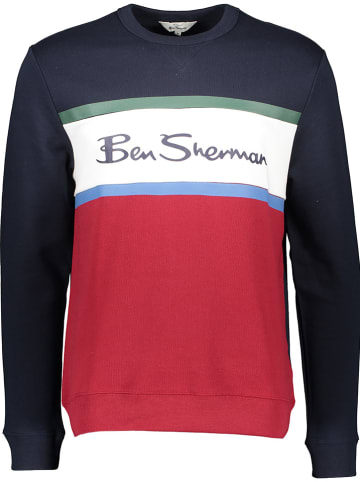 Ben Sherman Sweatshirt donkerblauw/rood
