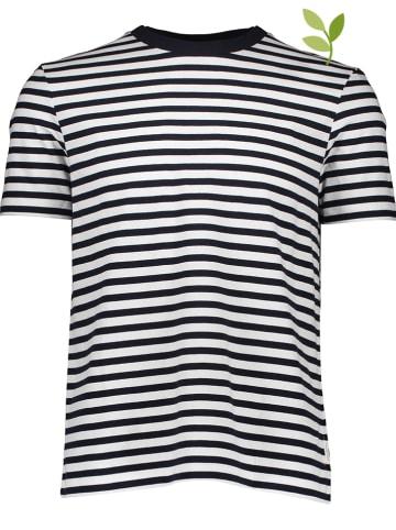 Marc O'Polo Shirt donkerblauw/wit