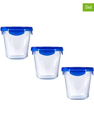 "Pyrex 3er-Set: Glasdosen ""Cook & Go"" in Blau - 800 ml"