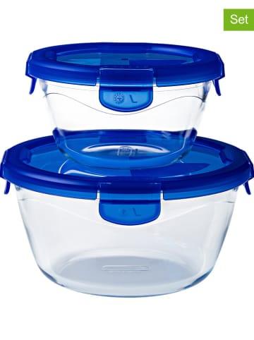 "Pyrex 2er-Set: Glasdosen ""Cook & Go"" in Blau"