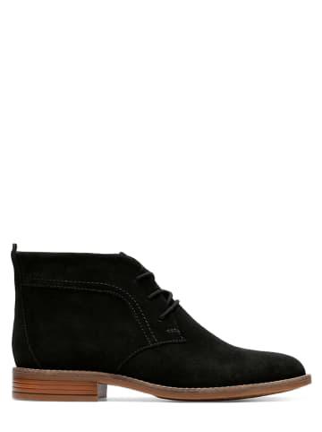 Clarks Leder-Schnürschuhe in Schwarz