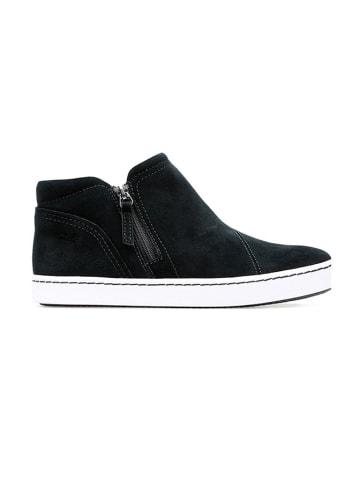 """Clarks Leren sneakers """"Catwick Zip"""" zwart"""