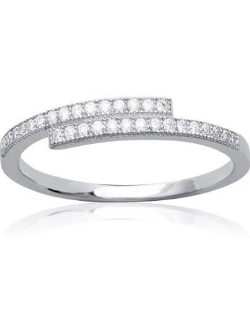 Lucette Zilveren ring met edelstenen