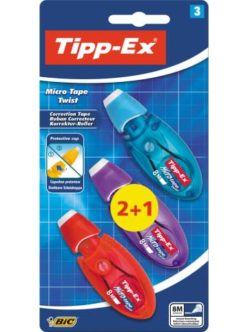 """Bic Korektory w taśmie (3 szt.) """"Tipp-Ex Micro - Tape Twist"""""""
