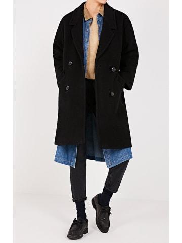 """American Vintage Wollen mantel """"Tinaritz"""" zwart"""