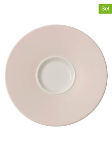 "Villeroy & Boch Spodek ""Caffè Club Uni Pearl"" (4 szt.) w kolorze beżowym - Ø 17 cm"