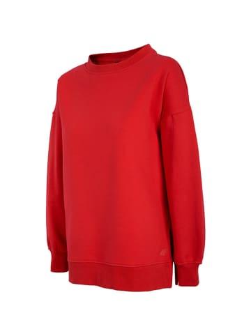 4F Bluza w kolorze czerwonym