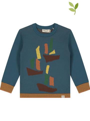 Smitten Organic Sweter w kolorze niebieskim