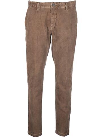 Benetton Spodnie chino w kolorze brązowym
