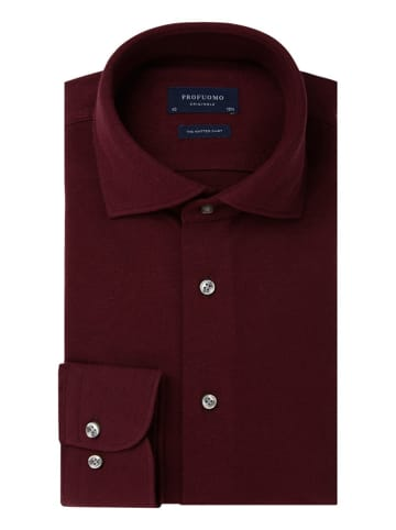 PROFUOMO Blouse - slim fit - donkerrood