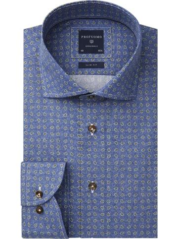 PROFUOMO Blouse - slim fit - blauw