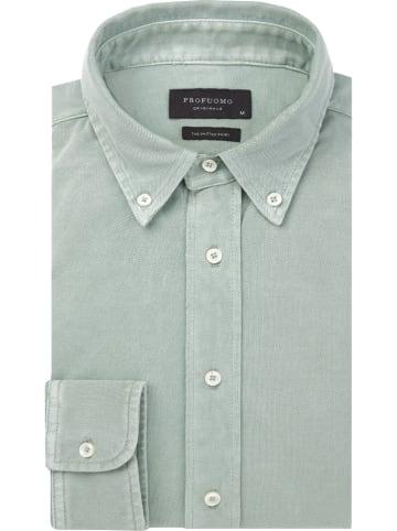PROFUOMO Koszula - Slim fit - w kolorze zielonym
