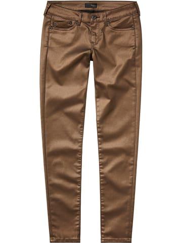 """Pepe Jeans Spodnie """"Pixie Rock"""" - Skinny fit - w kolorze brązowym"""