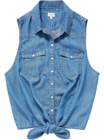"""Pepe Jeans Blouse """"Wave"""" blauw"""