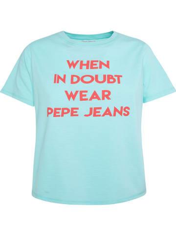 """Pepe Jeans Koszulka """"Freja"""" w kolorze niebieskim"""