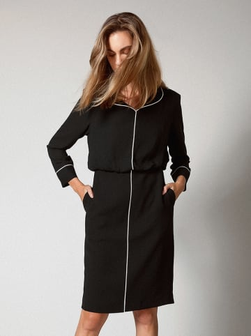Molton Sukienka w kolorze czarnym