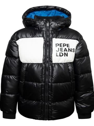 Pepe Jeans Kurtka zimowa w kolorze czarno-białym
