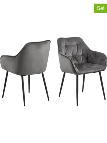 """AC Design Krzesła (2 szt.) """"Brooke"""" w kolorze szarym - 58 x 83 x 55 cm"""