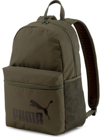 """Puma Plecak """"Phase"""" w kolorze oliwkowym - 30 x 44 x 14 cm"""