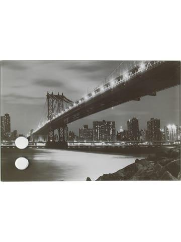 Wenko Sleutelkast grijs/zwart - (B)30 x (H)20 x (D)5 cm