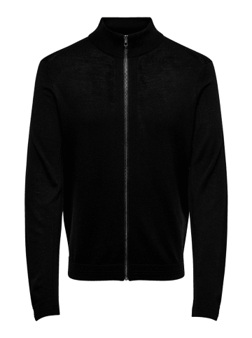 """ONLY & SONS Dzianinowy sweter """"Styler"""" w kolorze czarnym"""