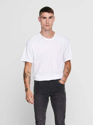 "ONLY & SONS Koszulka ""Matt"" w kolorze białym"