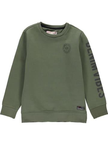 """Retour Sweatshirt """"Genua"""" kaki"""