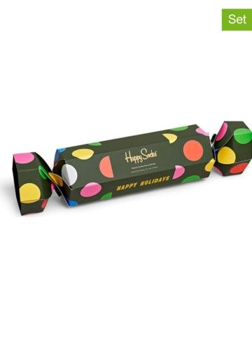 "Happy Socks 2-delige set: sokken ""Classic Holiday"" groen"