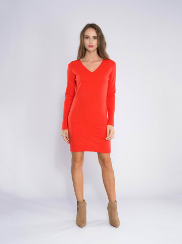 "Perfect Cashmere Kaschmir-Kleid ""Joy"" in Orange"