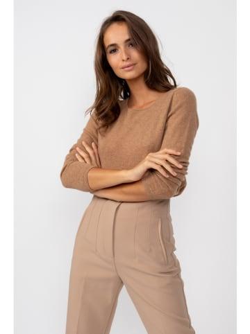 Perfect Cashmere Kaszmirowy sweter w kolorze jasnobrązowym