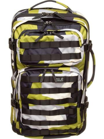 Jack Wolfskin Plecak podróżny w kolore zielono-czarno-białym - 32 x 54 x 26 cm