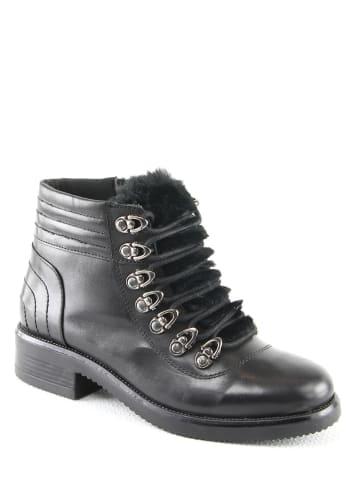 "Manoukian Leder-Boots ""Pepita"" in Schwarz"