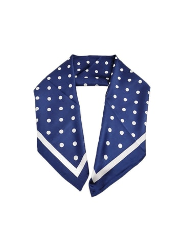 Made in Silk Zijden doek wit/donkerblauw - (L)90 x (B)90 cm