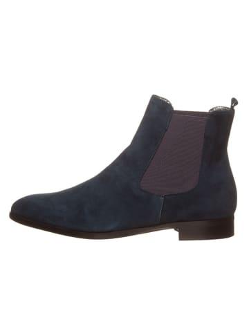 Cinque Leder-Chelsea-Boots in Dunkelblau
