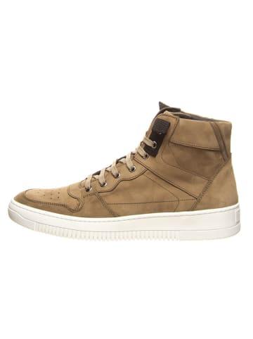 Cinque Leren sneakers taupe