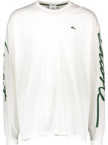 Lacoste Koszulka w kolorze biało-zielonym