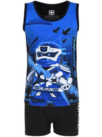 """Legowear 2-delige ondergoedset """"M-22804"""" zwart/blauw"""