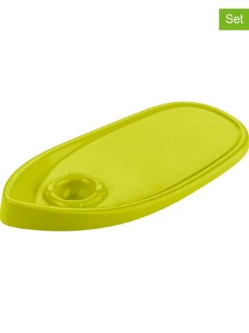 Koziol 2-delige set: ontbijtplankjes groen - (L)31,4 x (B)15,3 cm