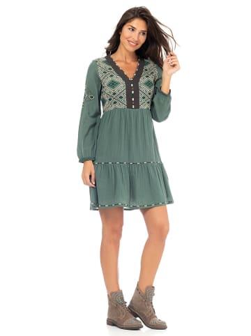 Peace & Love Sukienka w kolorze zielonym
