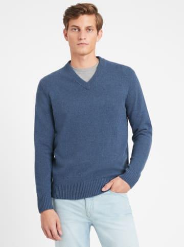Banana Republic Wełniany sweter w kolorze niebieskim